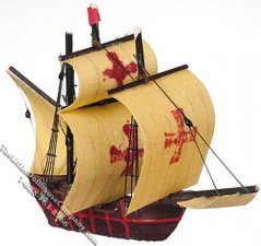 Miniature Spanish Galleon Ship Model for Dollhouses