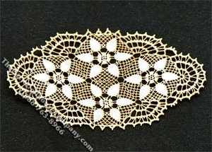 Miniature Laser Cut Oval Doily for Dollhouses