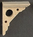Eaves Bracket for Dollhouse Scale Models (4/pkg.)
