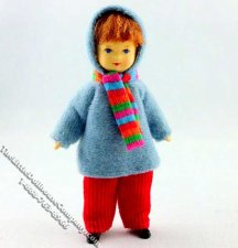Lutz Flexible Boy Doll by Erna Meyer for Dollhouses