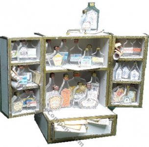 Miniature Apothecary Cabinet Travel Kit