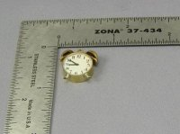 Dollhouse Scale Model Brass Alarm Clock