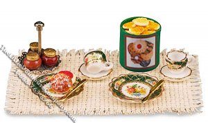 Miniature Afternoon Dessert Set for Dollhouses