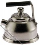 Dollhouse Scale Model Chrome Tea Kettle