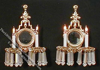 Miniature Pair of 12v Versailles Sconces