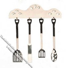 1920s Style Cooking Utensils for Dollhouses