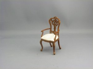 Dollhouse Miniature Walnut Chair