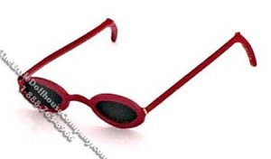 Miniature Red Sunglasses for Women for Dollhouses