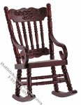 Miniature Mahogany Gloucester Rocking Chair for Dollhouses