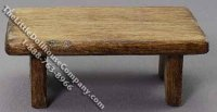 Miniature Rustic Bench for Dollhouses