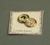 Earrings by Loretta Kazsa