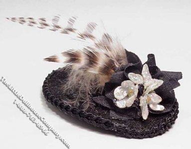 Ladies Feathered Hat by Nancy Wantiez for Dollhouses