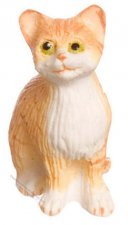 Dollhouse Orange Sitting Cat For Dollhouses