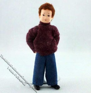 1/2 scale Jochen Flexible Boy Doll by Erna Meyer for Dollhouses