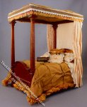 Miniature 4 Poster Bed w/Pillows & Comforter by Serena Johnson