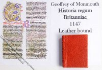Dollhouse Scale Model Book Historia Regum Britanniae 1147
