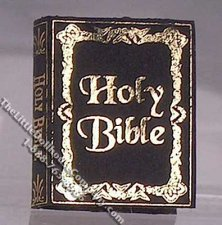 Miniature Reproduction Holy Bible for Dollhouses