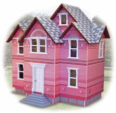 Assembled Melissa and Doug Victorian Dollhouse