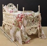 Miniature Bed for a Girl by Danielle Design for Dollhouses