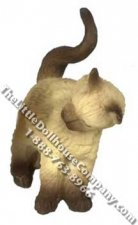 Dollhouse Scale Model Siamese Cat Rubbing Left Side