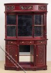 Miniature Mahogany Hennessy Bar Back for Dollhouses