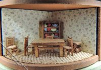 "1/144"" Scale Dining Room Furniture Kit for Dollhouses"