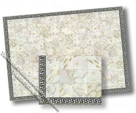 Dollhouse Scale Model Faux White Marble Tile Floor Sheet