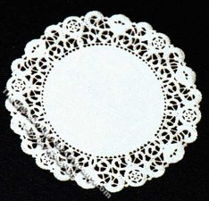 Miniature Large Round Laser Cut Doily for Dollhouses