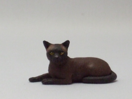 Dollhouse Miniature Burmese Cat by Karl Blindheim