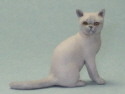 Dollhouse Miniature Sitting Burmese Cat by Karl Blindheim