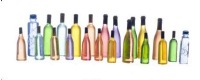 Dollhouse Scale Model Set of 21 Bottles