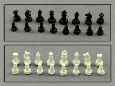 Dollhouse Miniature 32 Chess Pieces (1:12 Scale) - Click Image to Close