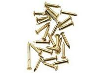 Brass Pin Nails for Dollhouse 1/12 Scale Models, 4mm L, 100/pkg.