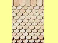 Dollhouse Scale Model 200pcs Red BC Cedar Shingles Fishscale Cut