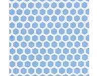 Dollhouse Scale Model Blue Small Hexagon Tile Sheet