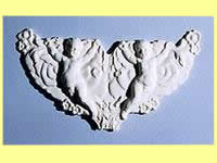 Dollhouse Scale Model Pediment