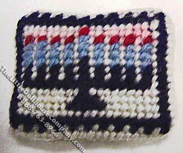 Miniature Menorah Needlepoint Pillow for Dollhouses - Click Image to Close