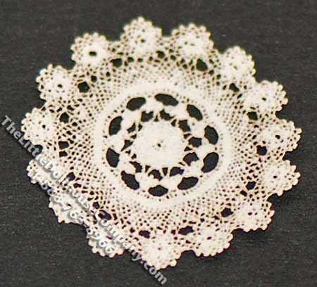 Miniature Round Laser Cut Doily for Dollhouses - Click Image to Close