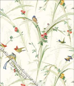 Songbirds, White - Wallpaper - Click Image to Close