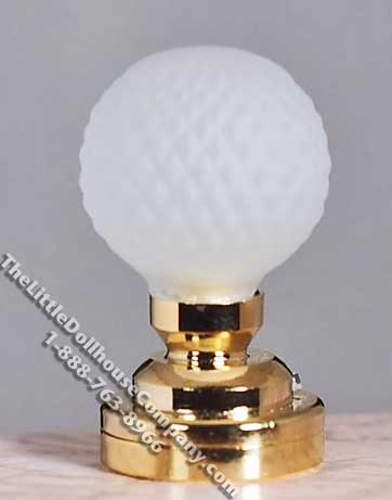 Dollhouse Scale Model Battery Operated Globe Table Lamp - Click Image to Close