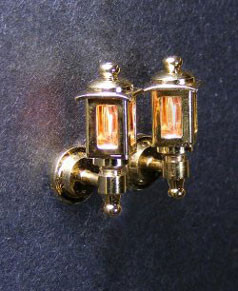 Miniature 1/2 Scale Coach Lamps for Dollhouses