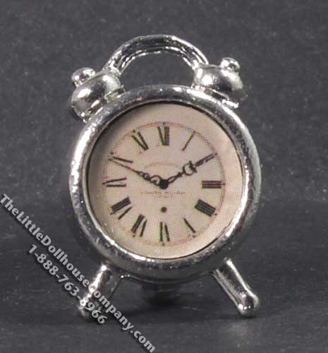 Miniature Traditional Alarm Clock for Dollhouses - Click Image to Close