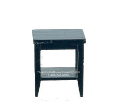 Miniature Black RS Square End Table For Dollhouses