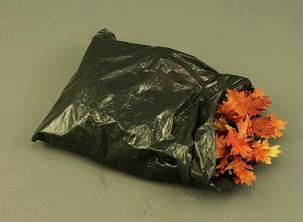 Dollhouse Miniature Garbage Bag Full of Leaves