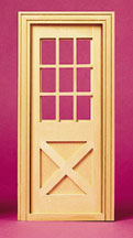 Dollhouse Fashion Scale Model Crossbuck Exterior Door