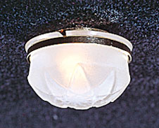 Dollhouse Scale Model Ceiling Lamp w/Removable Frosted Shade