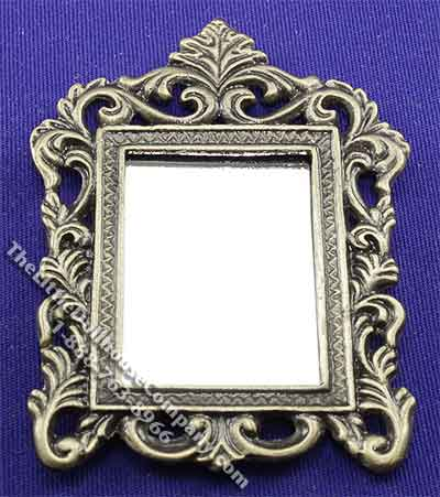 Miniature Antiqued Frame Mirror for Dollhouses - Click Image to Close