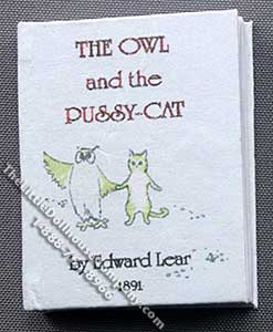 Miniature Book: 'The Owl and the Pussy-Cat'