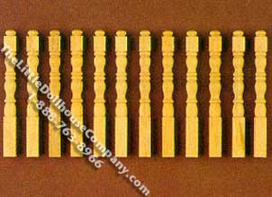 """Dollhouse Miniature Spindles Table Legs 4 Pieces Wood 1:12 Scale 2 5//8/"""" Long"""